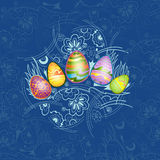 Easter background egg color Royalty Free Stock Image