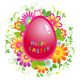 Easter background with egg Stock Photos