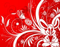 Easter background with eggs royalty free illustration