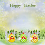 Easter greeting background Stock Photos