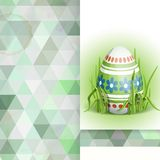 Easter Background With Eggs In Grass. Greeting Card Design, Template. Easter Background With Eggs In Grass. Vector Illustration. Eps 10 Royalty Free Stock Photos