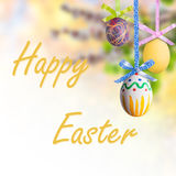 Easter Background with Eggs Stock Photos