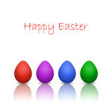 Easter background with eggs isolated on white Stock Photo