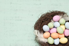 Easter. Background with eggs and nest Royalty Free Stock Image