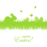 Easter background with eggs and rabbit Stock Photography