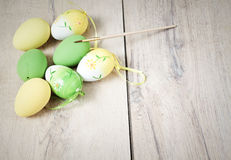 easter background with eggs Royalty Free Stock Photos