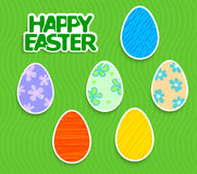 Easter background with eggs sticker Royalty Free Stock Images