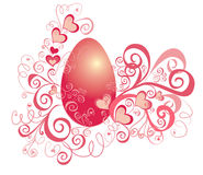 Easter background with eggs, vector illustration  Royalty Free Stock Image
