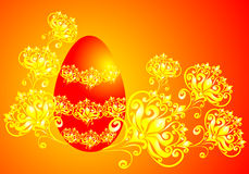 Easter background with eggs, vector illustration  Royalty Free Stock Photo