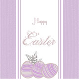 Easter background with eggs vintage pink Royalty Free Stock Photos