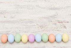 Easter background. Easter eggs on the wood Royalty Free Stock Photo