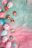 Easter background, Easter eggs. Royalty Free Stock Image