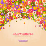 Easter Background with Flat Icons Arc Stock Images