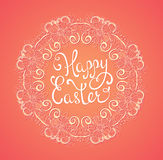 Easter background with floral frame Stock Photos