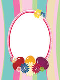 Easter background  with frame Royalty Free Stock Photo