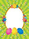 Easter background  with frame Stock Photos