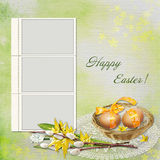 Easter greeting card with frame Stock Photos