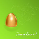 Easter background with golden egg Royalty Free Stock Image