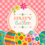 Easter background with hand lettering Royalty Free Stock Image