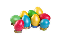 Easter background of hand-painted multicolored Royalty Free Stock Images
