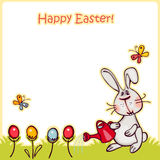 Easter background. Happy easter banner. easter  bunny and eggs. vector background Stock Photography