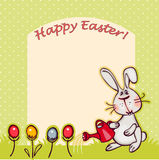 Easter background. Happy easter banner. easter  bunny and eggs. vector background Stock Images