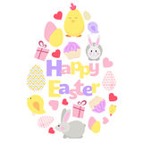 Easter background. Happy Easter vector background. Great for Easter design card, web site and other. Vector illustration. More Easter illustrations you can find Royalty Free Stock Image