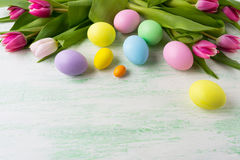 Easter background with holiday symbol Stock Image