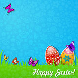 Easter background made of paper Royalty Free Stock Photos