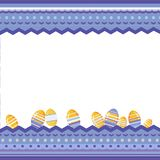 Easter background  with motley decorative frame and eggs. vector illustration