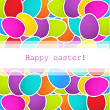 Easter background with multicolored eggs Royalty Free Stock Images