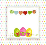 Easter background with panel and bunting Royalty Free Stock Images