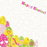 Easter background with paper eggs Royalty Free Stock Photography