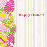 Easter background with paper eggs Stock Photography