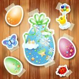 Easter background with paper elements Stock Image