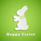 Easter background with paper rabbit Stock Photography