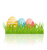 Easter background with paschal eggs Royalty Free Stock Photo