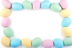Easter background with pastel color eggs Royalty Free Stock Photos