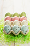 Easter background with pastel colorful eggs Royalty Free Stock Image