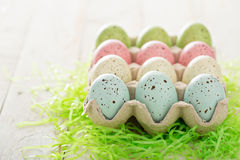 Easter background with pastel colorful eggs Royalty Free Stock Photography