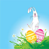 Easter background with rabbit Stock Images