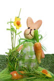 Easter background with a rabbit Stock Images