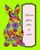 Easter background with rabbit Royalty Free Stock Photo