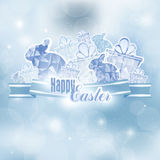 Easter background with ribbon Royalty Free Stock Image
