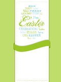 Easter background with ribbon Stock Photos