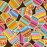 Easter background seamless pattern stock illustration