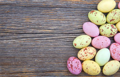 Easter background, small spotted easter eggs Royalty Free Stock Photography
