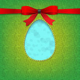 Easter background with a stiched egg Royalty Free Stock Photo