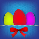 Easter background with stiched eggs Stock Image