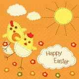 Easter background with stylized chicks Royalty Free Stock Photo